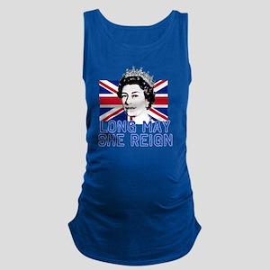 Queen Elizabeth II:  Long May S Maternity Tank Top