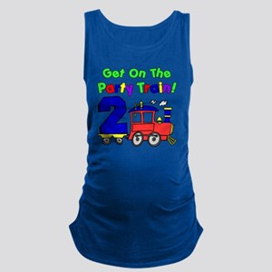 Get On The Party Train 2 Year O Maternity Tank Top