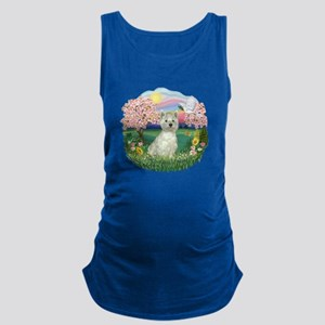 Blossoms-Westie 8 Maternity Tank Top
