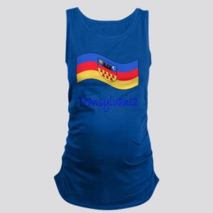 Waving Transylvania Historical  Maternity Tank Top