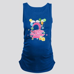 2nd Birthday with Balloons - Pi Maternity Tank Top