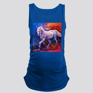 Horse Painting Maternity Tank Top