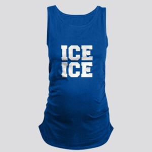 ice ice baby-Fre white Maternity Tank Top