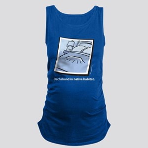 dachs_native_whiteletters Maternity Tank Top
