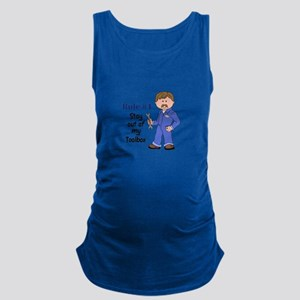 STAY OUT OF MY TOOLBOX Maternity Tank Top