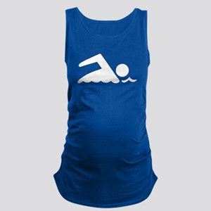 Swimmer Maternity Tank Top
