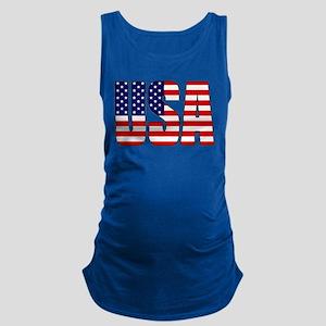 USA Flag Maternity Tank Top