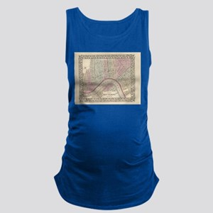 Vintage Map of New Orleans (188 Maternity Tank Top