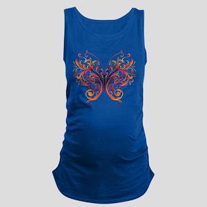 Scroll Butterfly Maternity Tank Top