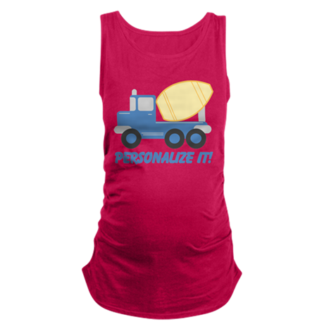 PERSONALIZED Cute Cement Truck Tank Top
