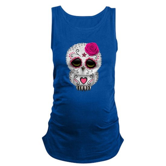 Pink Day of the Dead Sugar Skull Owl