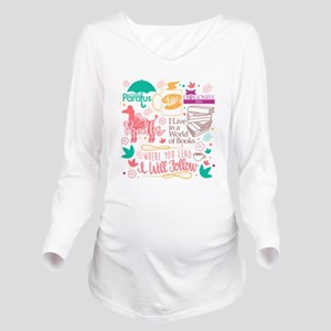 Gilmore Girls Collag Long Sleeve Maternity T-Shirt