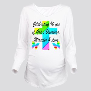 90 YR OLD BLESSING Long Sleeve Maternity T-Shirt