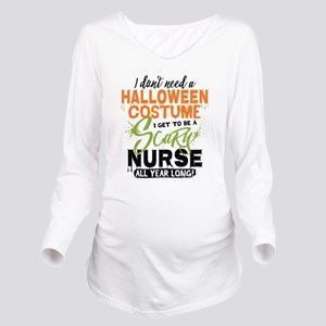 Nurse Halloween Long Sleeve Maternity T-Shirt