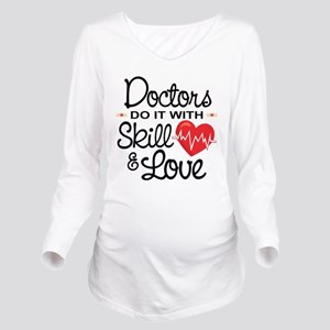 Funny Doctor Long Sleeve Maternity T-Shirt