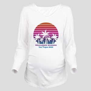 Custom Beach Sunset Long Sleeve Maternity T-Shirt