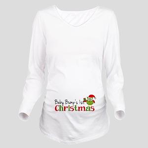 ac377de120751 Baby Bumps 1st Christmas Owl Long Sleeve Maternity