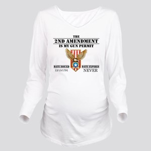 My Permit Long Sleeve Maternity T-Shirt