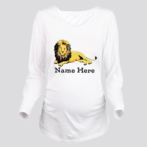 Personalized Lion Long Sleeve Maternity T-Shirt