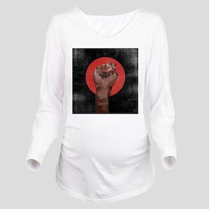 Black Herstory Black Long Sleeve Maternity T-Shirt