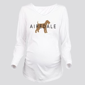 airedale dog text Long Sleeve Maternity T-Shir
