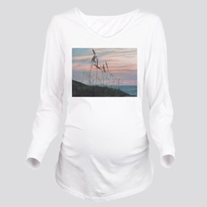 BEACH MORNING VIEW Long Sleeve Maternity T-Shirt