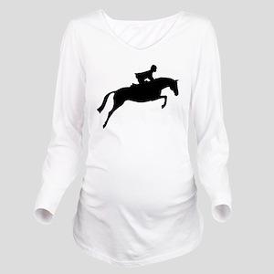 jumper rider white Long Sleeve Maternity T-Shi