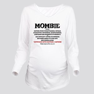 MOMBIE - CAFFEINE Long Sleeve Maternity T-Shirt