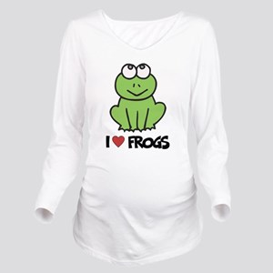 I Love Frogs Long Sleeve Maternity T-Shirt
