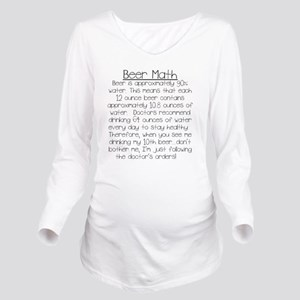Beer Math Long Sleeve Maternity T-Shirt
