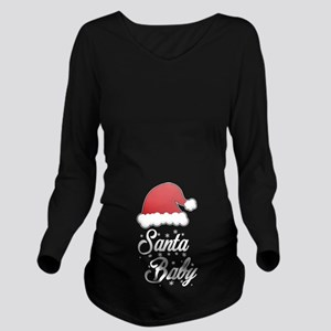 Santa Baby Long Sleeve Maternity T-Shirt