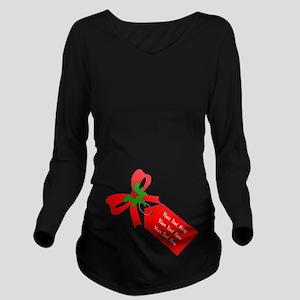b7b1ad3092f2a Personalize It Long Sleeve Maternity T-Shirt