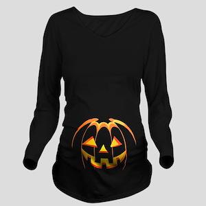 Jack-o'-lantern Hall Long Sleeve Maternity T-Shirt