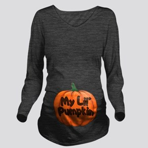My Lil' Pumpkin Long Sleeve Maternity T-Shirt