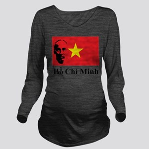 Ho Chi Minh Long Sleeve Maternity T-Shirt