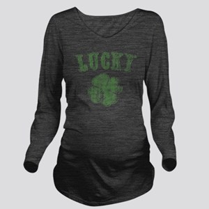 lucky-shamrock-LTT Long Sleeve Maternity T-Shirt