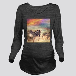 Beautiful Zebras Long Sleeve Maternity T-Shirt