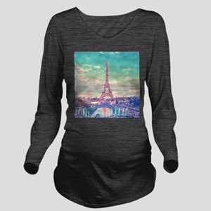 Eiffel Tower Long Sleeve Maternity T-Shirt