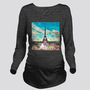Paris Long Sleeve Maternity T-Shirt