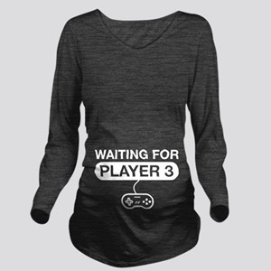waiting for player 3 Long Sleeve Maternity T-Shirt