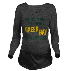 f93ee54b Green Bay Football Long Sleeve Maternity T-Shirt