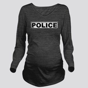 Police Long Sleeve Maternity T-Shirt