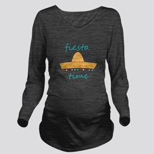 Fiesta Time Hat Long Sleeve Maternity T-Shirt