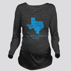 Texas 2nd Amendment Long Sleeve Maternity T-Shirt