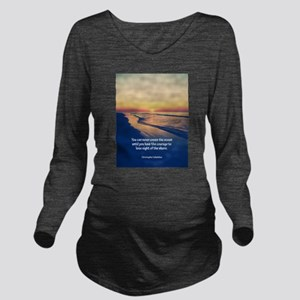 Christopher Columbus Quote Long Sleeve Maternity T