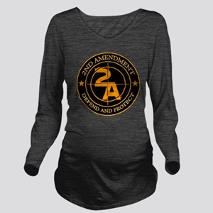 2ND Amendment 3 Long Sleeve Maternity T-Shirt