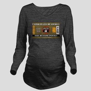 e62df72fa7 ISIS Hunting Permit Long Sleeve Maternity T-Shirt