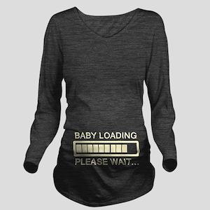 Baby Loading Wait Long Sleeve Maternity T-Shirt