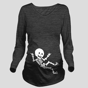 Halloween Skeleton Long Sleeve Maternity T-Shirt