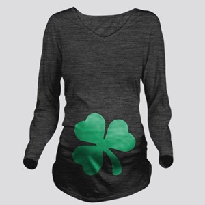 Irish Shamrock Long Sleeve Maternity T-Shirt